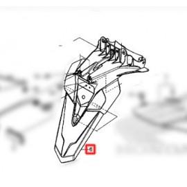 80101-K40-F00 : Bavette Arrière d'origine Honda Forza