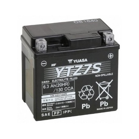 YTZ7S : Yuasa YTZ7S Battery Forza 125 NSS