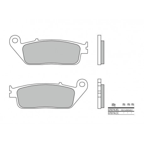 38800479 : Brembo Front Braking Pads 07074CC Forza 125
