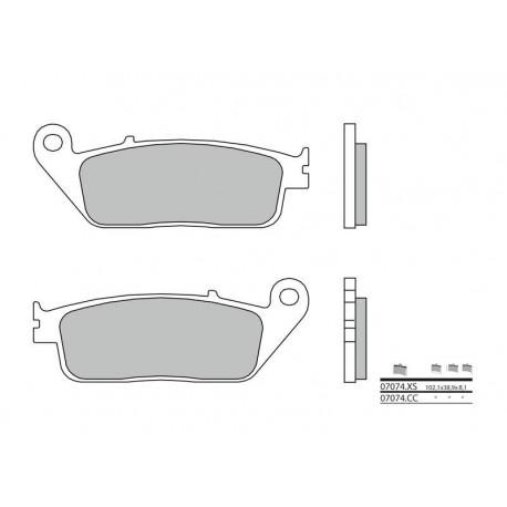 38800479 : Plaquettes de frein Avant Brembo 07074CC Forza