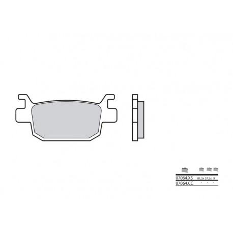 38800507 : Plaquettes de frein Arrière Brembo 07064CC Forza