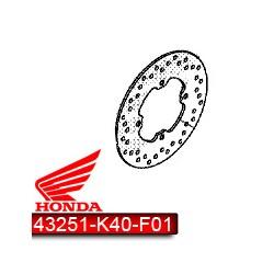 43251-K40-F01 : Disque de Frein arrière d'origine Forza 125 NSS