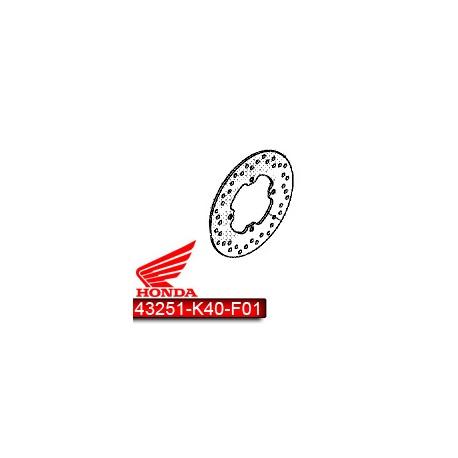43251-K40-F01 : Disque de Frein arrière d'origine Forza 125 300 NSS
