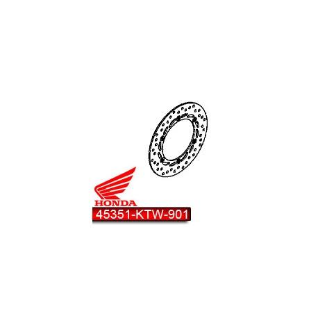 45351-KTW-901 : Disque de Frein Avant d'origine Forza 125 NSS