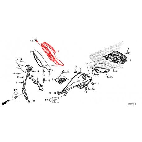 88110-K40-F01 : Honda OEM right mirror Forza 125