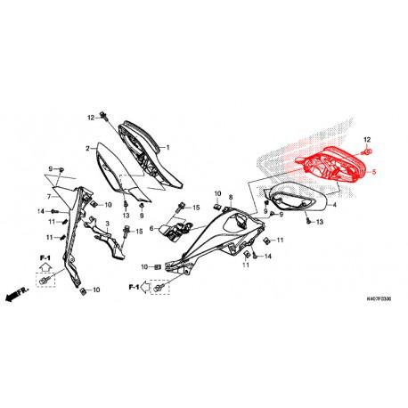 88120-K40-F01 : Rétroviseur gauche origine Honda Forza 125 NSS