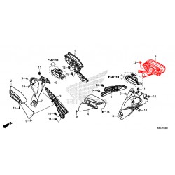 88120-K40-F61 : Rétroviseur gauche origine Honda Forza 125 NSS