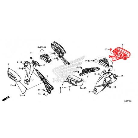 88120-K40-F61 : Honda OEM left mirror Forza 125 NSS