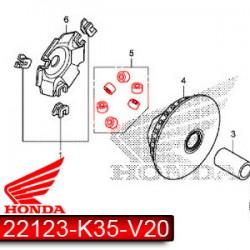 22123-K35-V20 : OEM roller set V2-V3 Forza