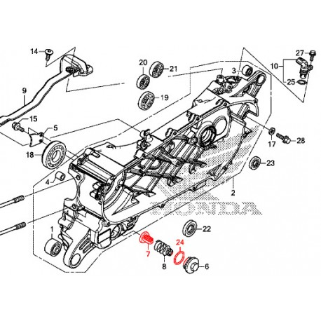 15421-KPL-900 + 91302-001-020 : Engine strainer kit Forza 125 300 NSS