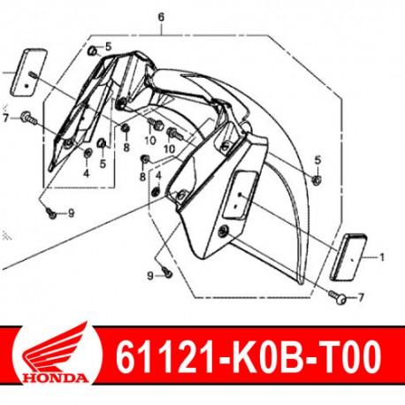 61121-K0B-T00 : Garde-boue avant intérieur Forza 125 300 NSS