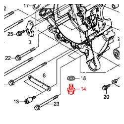 90131-883-000 : Boulon de vidange Honda Forza 125 300 NSS