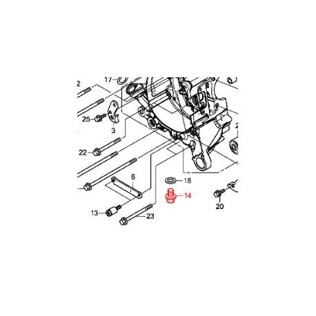 90131896650 : Boulon de vidange Honda Forza 125 300 NSS