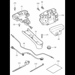 Système d'ouverture électronique de top-case Honda